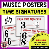 Music Theory Time Signatures: Posters: Anchor Charts