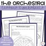 Instruments of the Orchestra Music Lessons and Worksheets