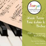 MUSIC: Tone Colour/Timbre Terms