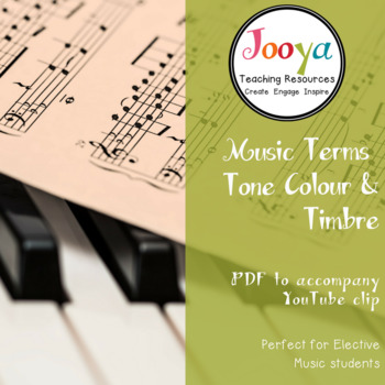 MUSIC: Tone Colour/Timbre Terms