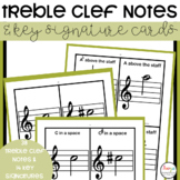 Treble Clef and Key Signature Cards