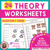 Valentine's Day Music Activities: Theory Worksheets
