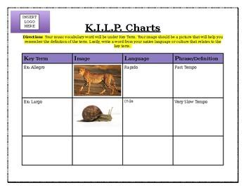 MUSIC Vocabulary Chart!