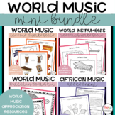 World Music Lessons and Worksheets Bundle
