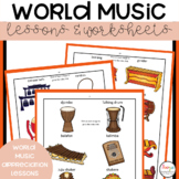 World Music Lessons and Worksheets