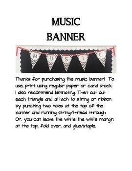 MUSIC banner/bunting