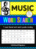 MUSIC word searches: instruments, terms, styles, symbols,