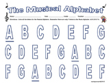MUSICAL ALPHABET -Coloring Page!  Great for Subs! 7 Letter to Color