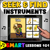 I SPY INSTRUMENTS Boom Cards™ Music Distance Learning Musi
