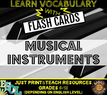 MUSICAL INSTRUMENTS: 24 FLASH CARDS