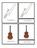 MUSICAL INSTRUMENTS 3 Part Cards SCRIPT