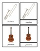 MUSICAL INSTRUMENTS 3 Part Cards CURSIVE