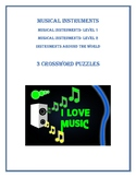MUSICAL INSTRUMENTS - CROSSWORD PUZZLES