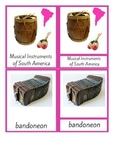 MUSICAL INSTRUMENTS OF SOUTH AMERICA MONTESSORI INSPIRED CARDS FOR CONTINENT BOX