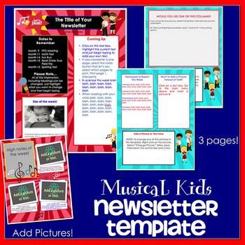 MUSICAL KIDS - Newsletter Template WORD