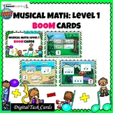 MUSICAL MATH LEVEL 1: MUSIC BOOM CARDS--Digital Task Cards