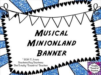 MUSICAL MINION LAND BANNER