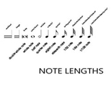 MUSICAL NOTE LENGTHS