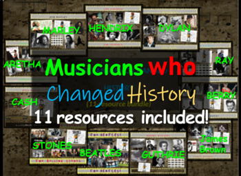 MUSICIANS THAT CHANGED HISTORY BUNDLE - 11 PPTs (275 slide