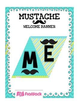 MUSTACHE MOUSTACHE Welcome Banner