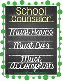 MUST HAVE HIGH SCHOOL COUNSELOR FORMS