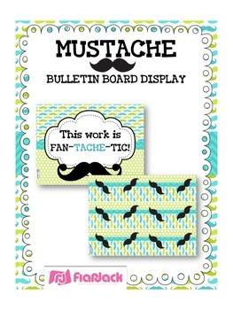 MUSTACHE MOUSTACHE Bulletin Board Set Display
