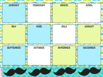 MUSTACHE MOUSTACHE Themed Birthday Displays