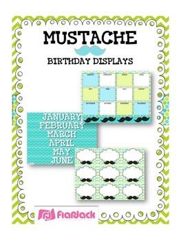 MUSTACHE MOUSTACHE Themed Birthday Displays