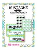 MUSTACHE MOUSTACHE Themed Calendar Display Set