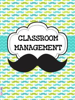 MUSTACHE MOUSTACHE Themed Classroom Management Pack