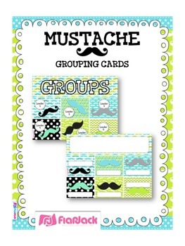 MUSTACHE MOUSTACHE Themed Grouping Cards