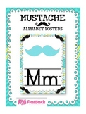 MUSTACHE MOUSTACHE Themed Manuscript Alphabet Posters