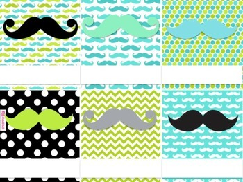 MUSTACHE MOUSTACHE Themed Student Jobs Display
