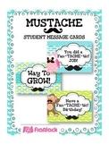 MUSTACHE MOUSTACHE Themed Student Message Cards (Postcards)