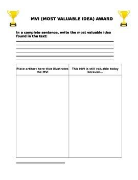 MVI: Most Valuable Idea