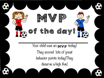 MVP Award for Classroom Behavior