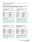 MVP Course 1 - Module 1 Sequences Assessment Answer Key