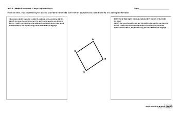 MVP Course 1 - Module 6 Categorizing Quad Assessment