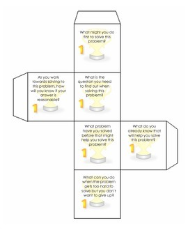 MVP Cube #1 - Making Sense of Problems CCSSM