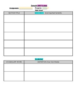 MVP Note-Taking Template