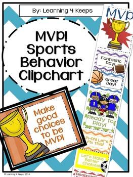 MVP Sports! Behavior Clipchart