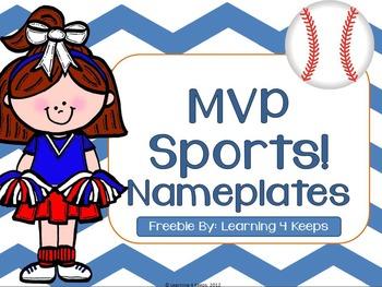 MVP Sports! Desk Nameplates