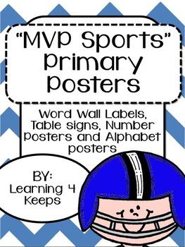 MVP Sports Primary Poster Set