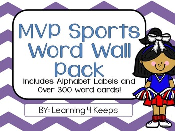 MVP Sports! Word Wall Pack: Alphabet Labels and Word Cards