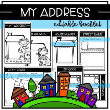 MY ADDRESS--Editable Safety Unit Activity Booklet