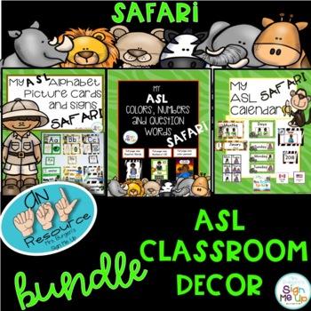 MY ASL Classroom SAFARI BUNDLE