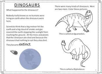My Book of Dinosaurs - Stegosaurus, Tyrannosaurus rex and Brontosaurus