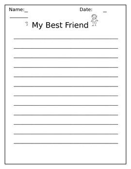 MY Best Friend Writing