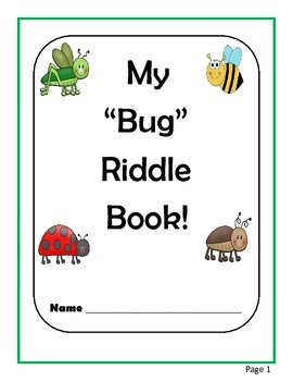 """MY """"Bug"""" Riddle Book"""
