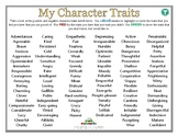 MY CHARACTER TRAITS (TEEN) (Self-Esteem)